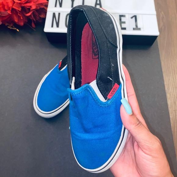 Vans Shoes | Blue Black White Size 3